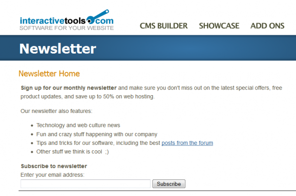 Add-ons - Plugins - Newsletter Builder